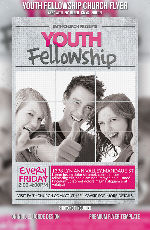 Youth fellowship church flyer by confianza graphicriver youth fellowship church flyer church flyers stopboris Images