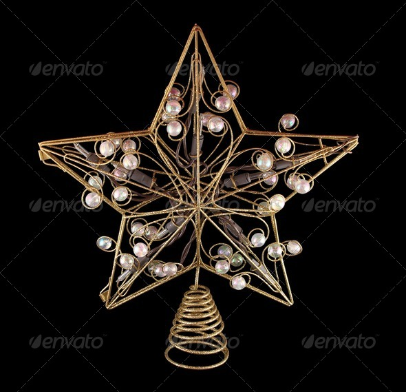 Holiday Tree Topper - Stock Photo - Images
