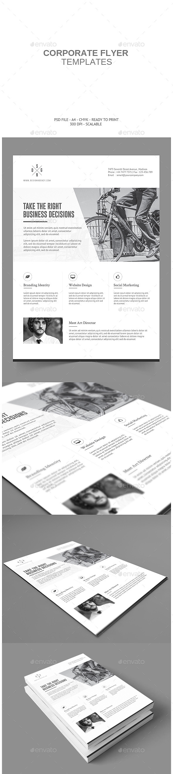Minimalistic Corporate Flyer  - Corporate Flyers