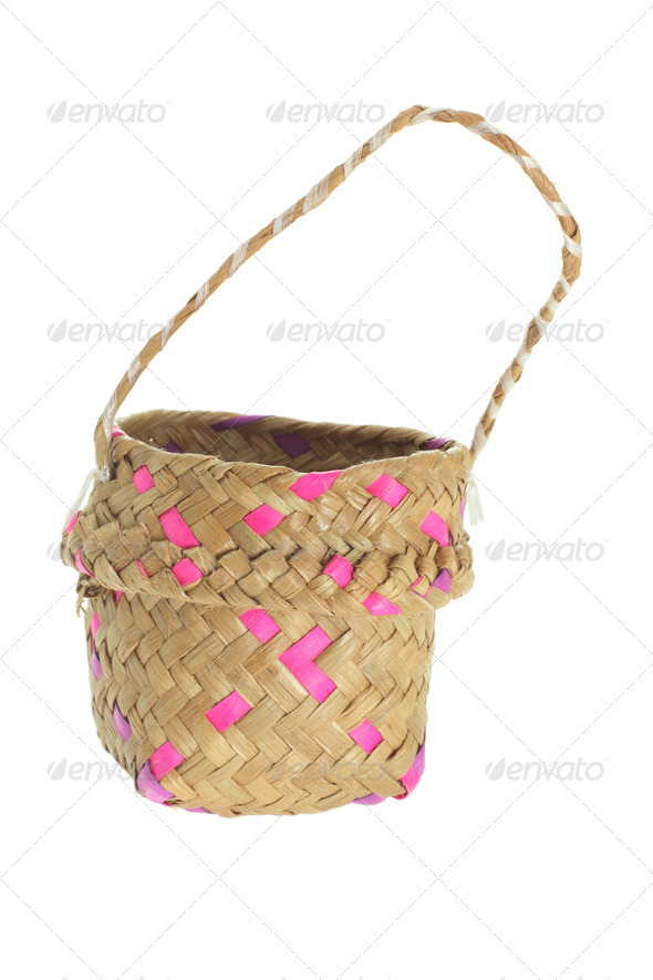 Straw Basket - Stock Photo - Images