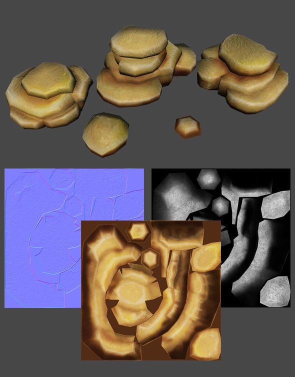 Desert Stones - 3DOcean Item for Sale