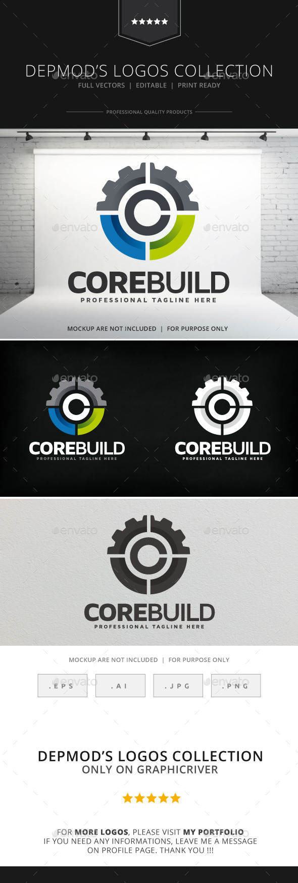 Core Build Logo - Abstract Logo Templates