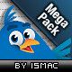 Twitter Mega Pack 48 Icons &Web Elements - GraphicRiver Item for Sale
