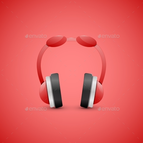 Headphones Illustration Graphic Concept - Computers Technology