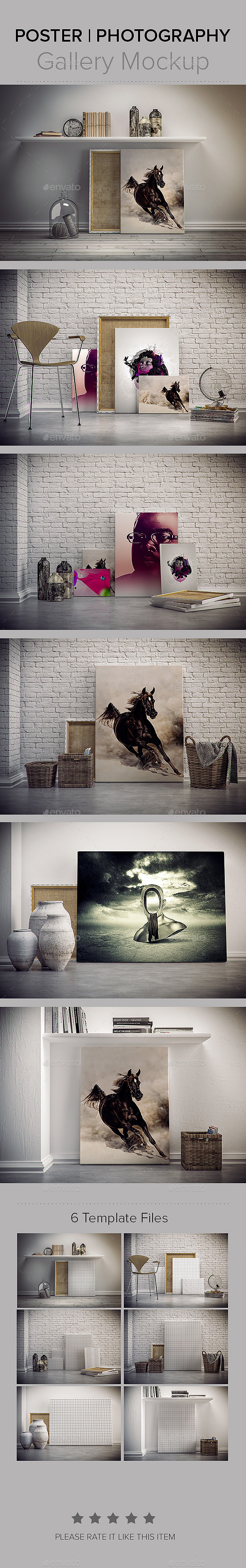 Photography / Poster GalleryMockup - Posters Print