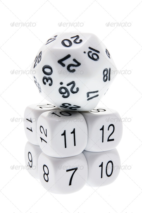 Stack of Number Dice - Stock Photo - Images