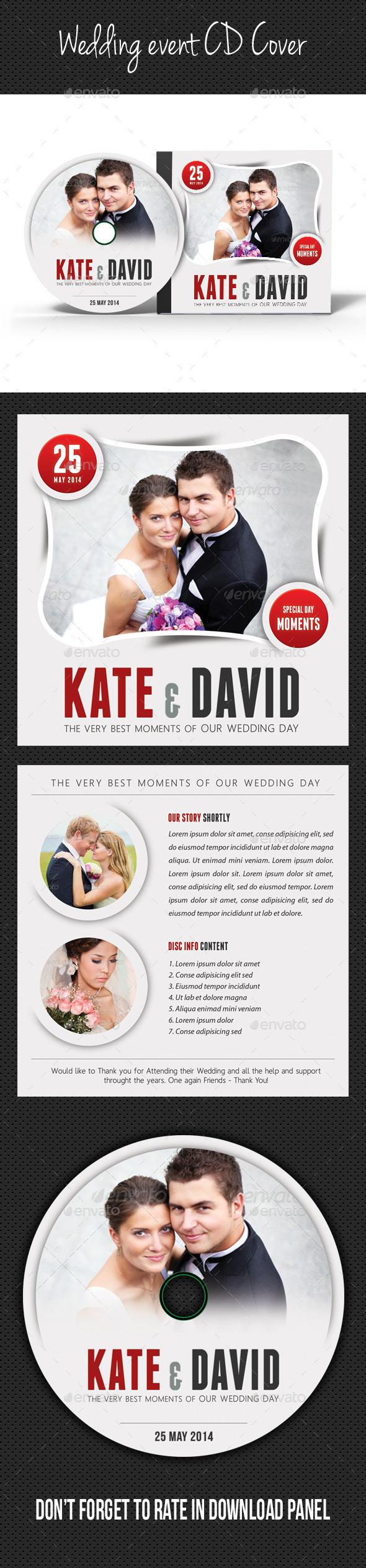 Wedding Event CD Cover V02 - CD & DVD Artwork Print Templates