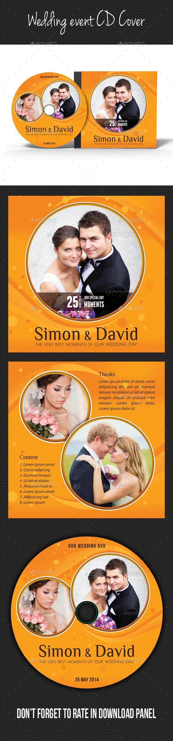 Wedding Event CD Cover V03 - CD & DVD Artwork Print Templates