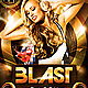 Blast Party Flyer plus FB Cover - GraphicRiver Item for Sale