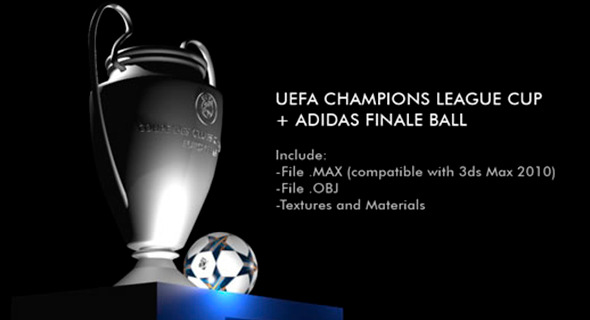 Champions League Cup + Adidas Finale Ball - 3DOcean Item for Sale