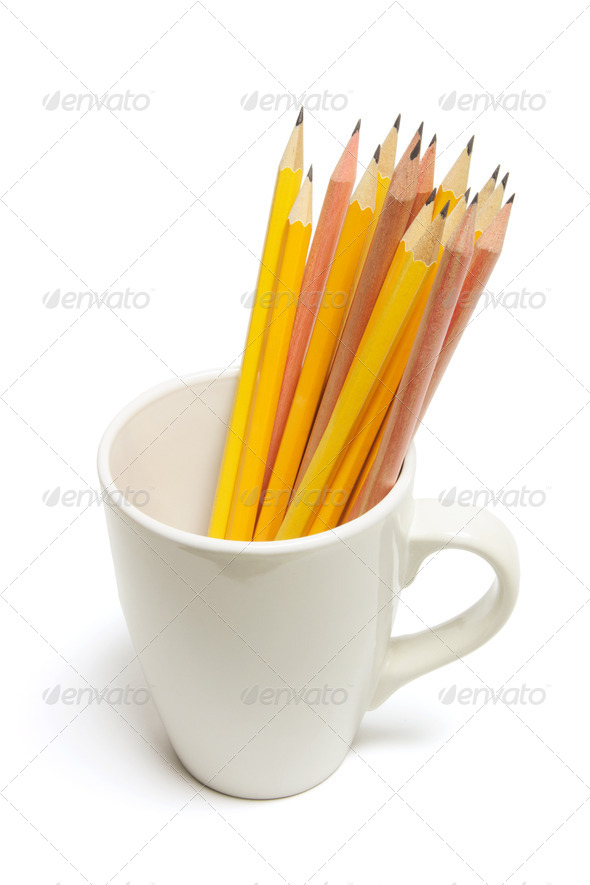 Pencils in Mug - Stock Photo - Images