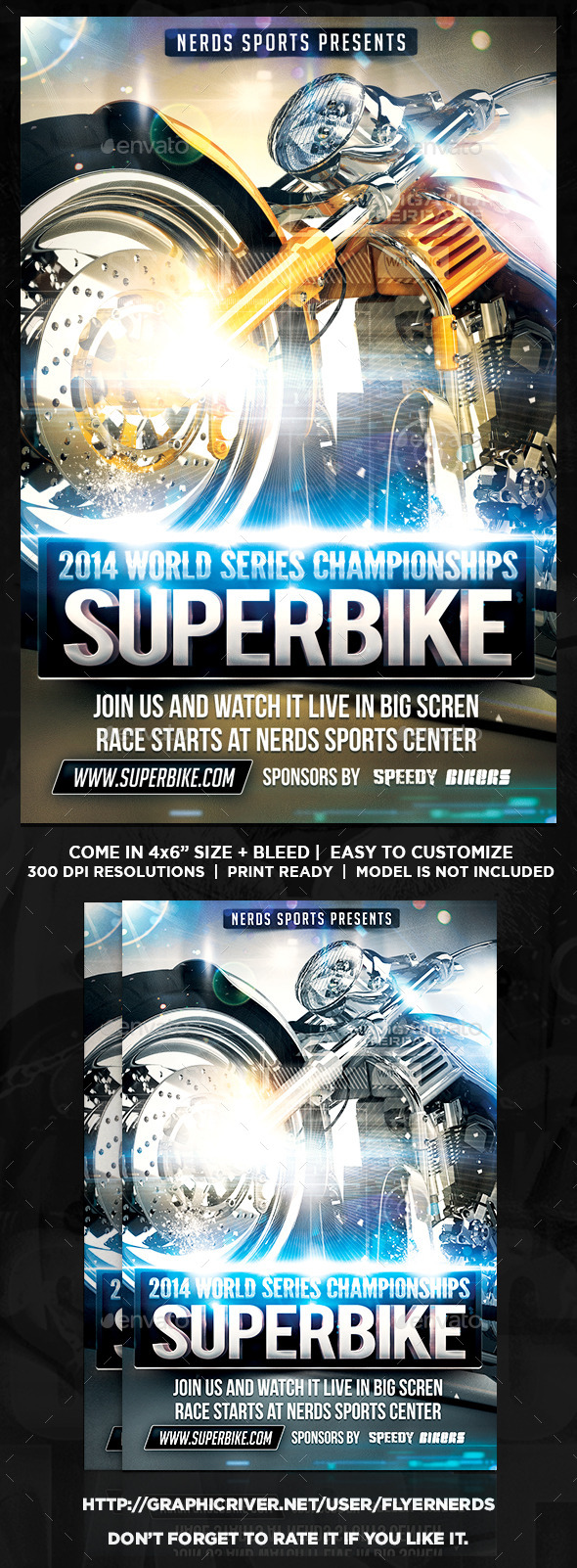 Superbike Series Flyer - Sports Events