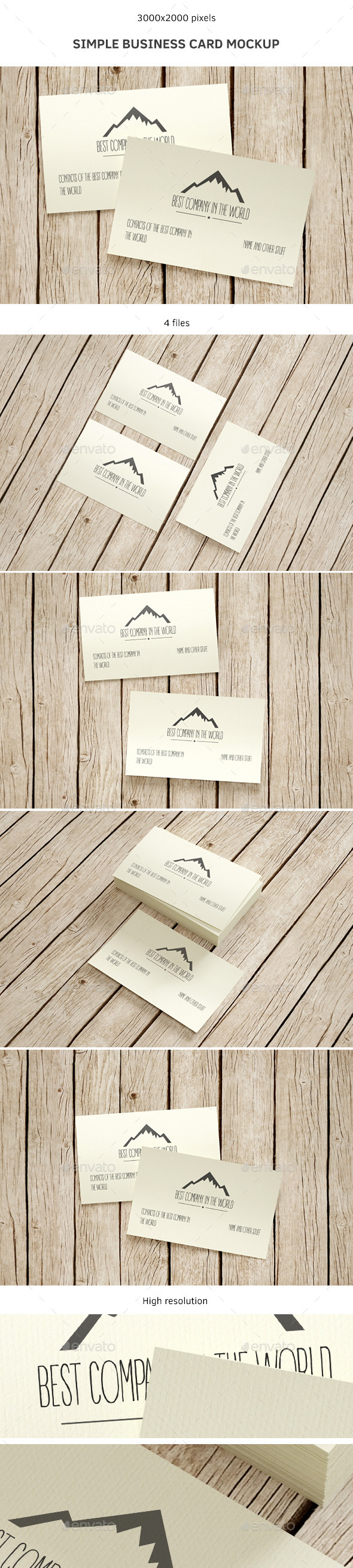 Simple Business Card Mockup - Business Cards Print