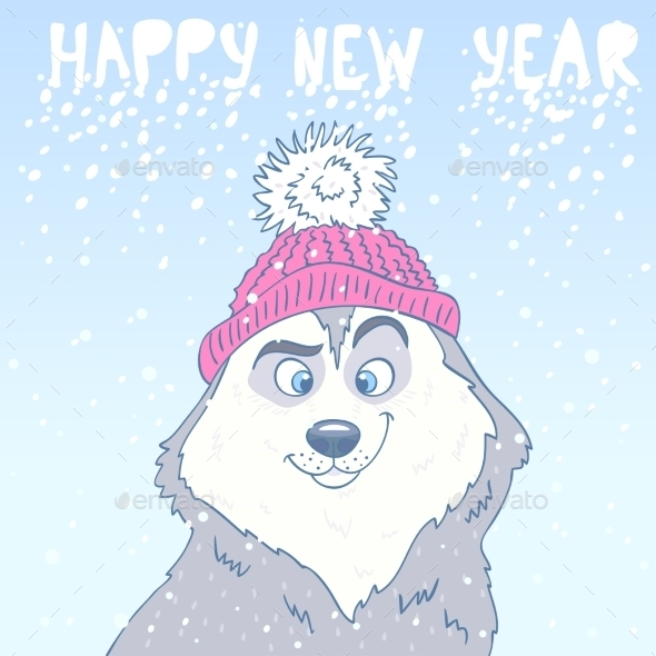 Husky New Year - Christmas Seasons/Holidays