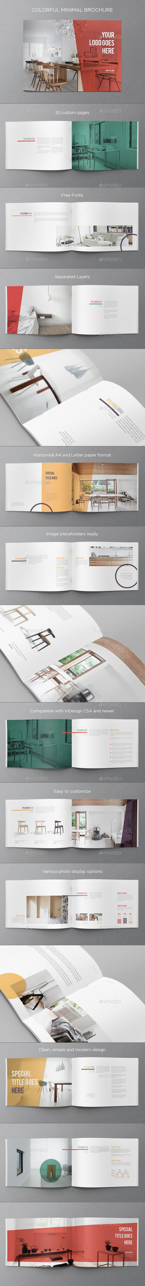 Colorful Minimal Brochure - Brochures Print Templates