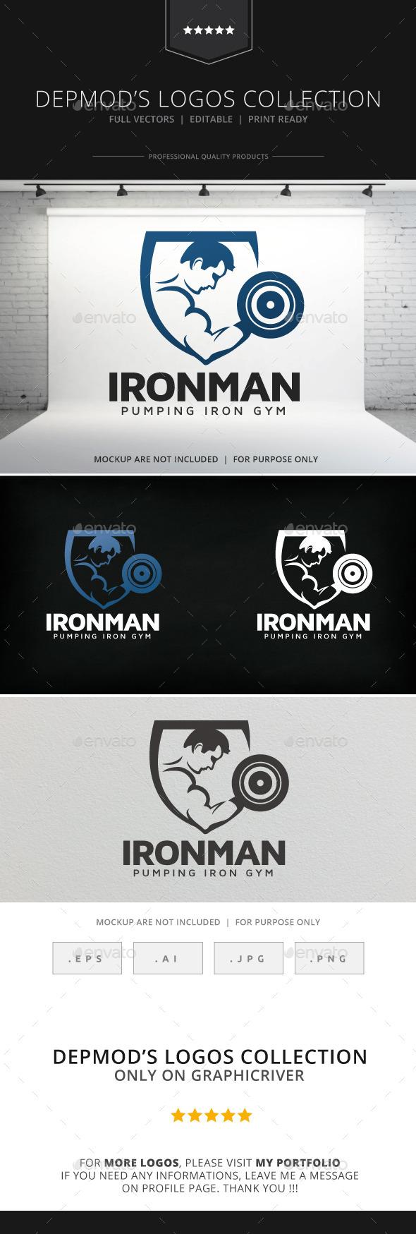 Iron Man Logo - Humans Logo Templates