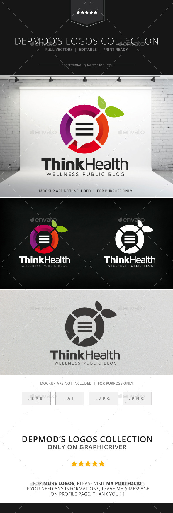 Think Health Logo - Symbols Logo Templates