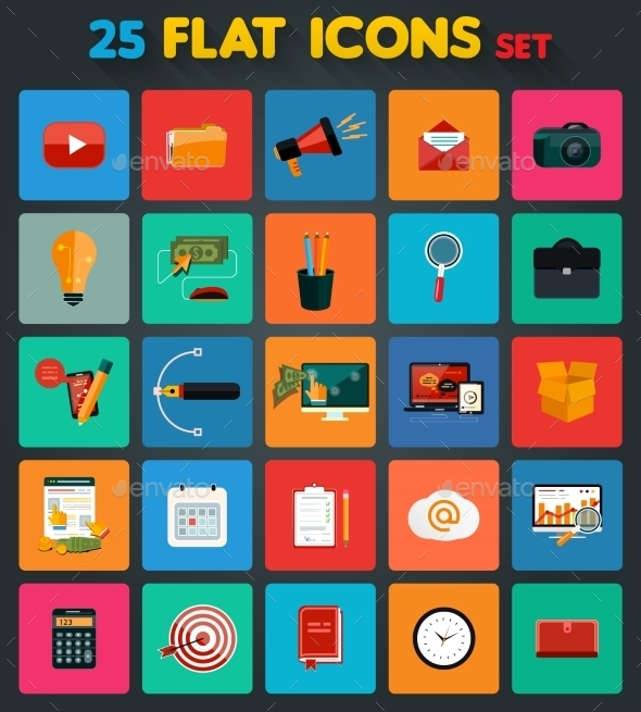 Business Items Icons - Technology Conceptual