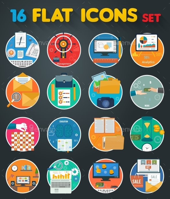 Office Items Icons - Concepts Business