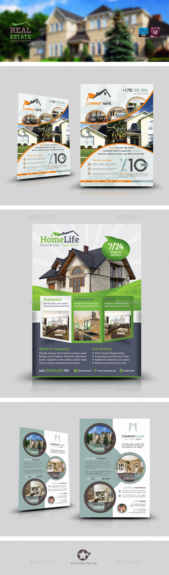 Real Estate Flyer Bundle Templates - Corporate Flyers