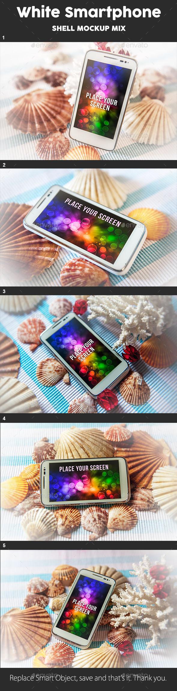 Smartphone Mock Up - Shell Theme - Mobile Displays