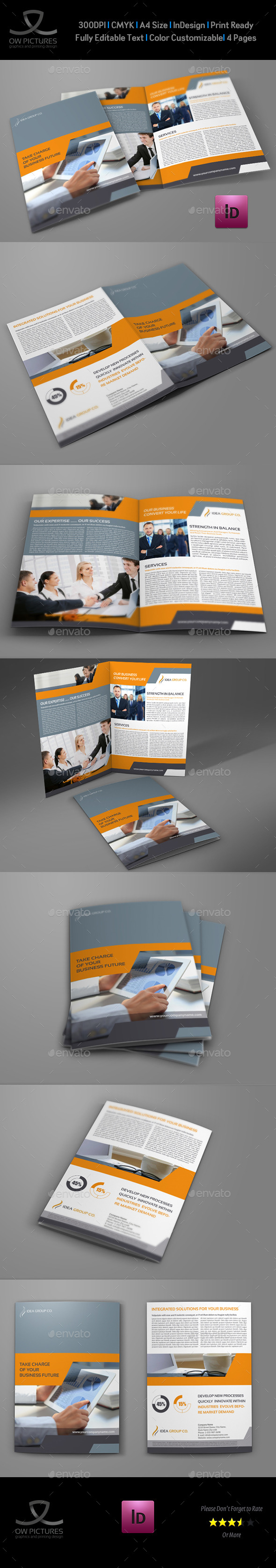 Company Brochure Bi-Fold Template Vol.34 - Corporate Brochures