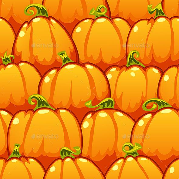 Pumpkins Seamless Pattern - Patterns Decorative