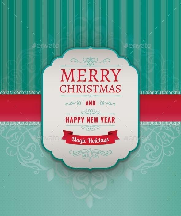 Merry Christmas Greeting Card - Seasons/Holidays Conceptual