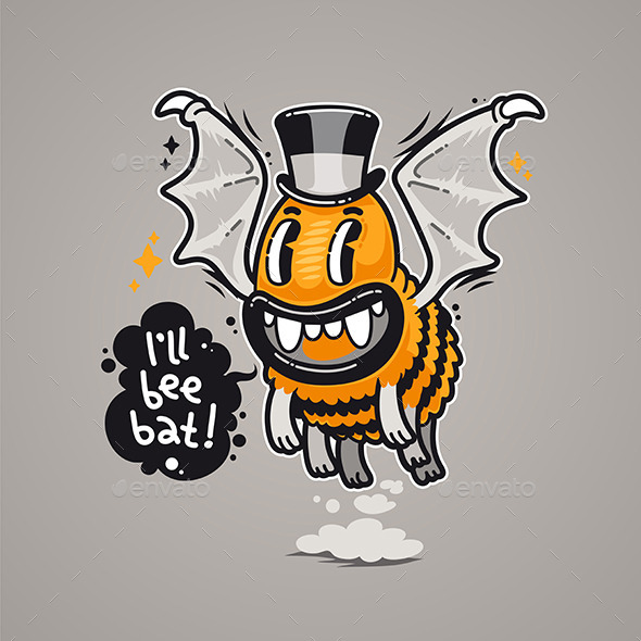 Cartoon Monster I'll Bee Bat - Monsters Characters