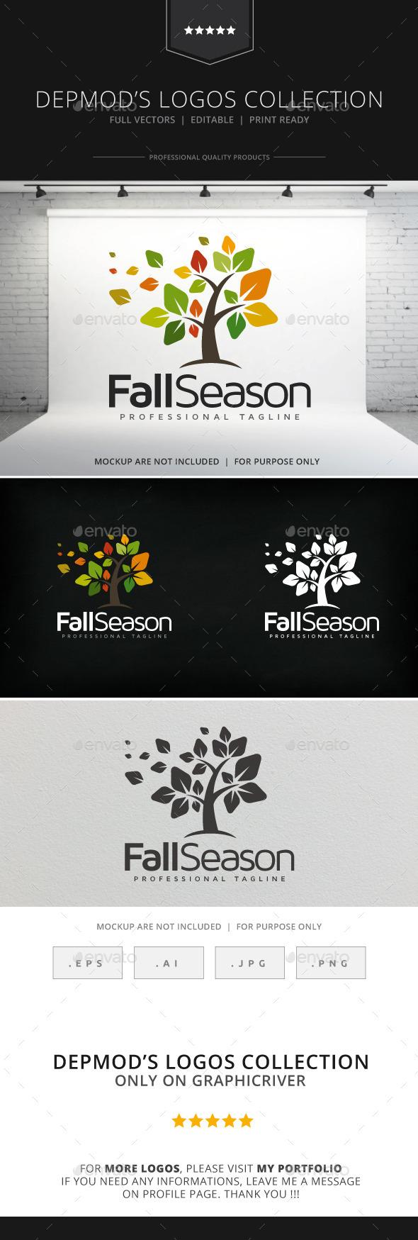 Fall Season Logo - Nature Logo Templates