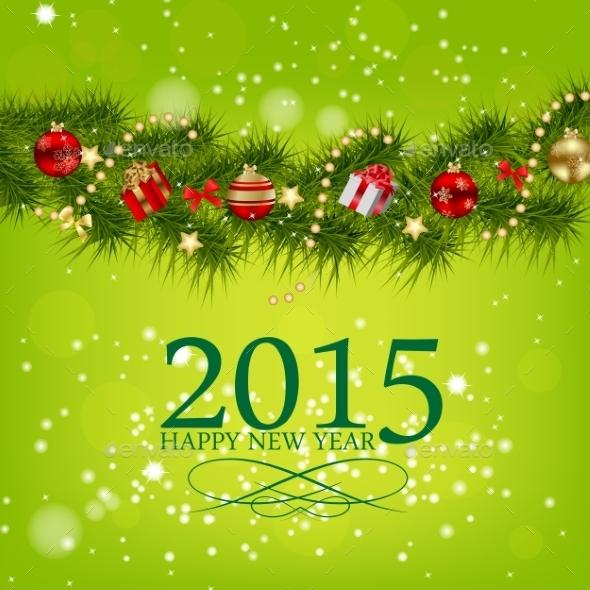 Abstract Christmas 2015 and New Year Background - Christmas Seasons/Holidays