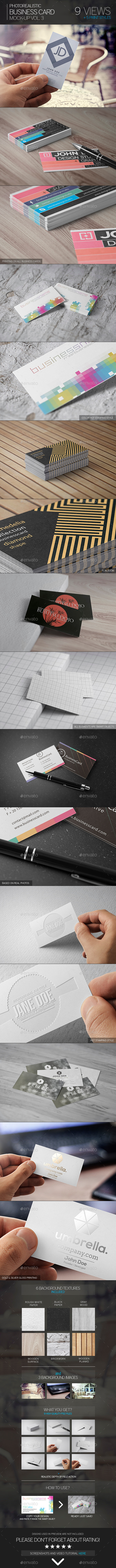 Photorealistic Business Card Mock-Up Vol.3 - Business Cards Print