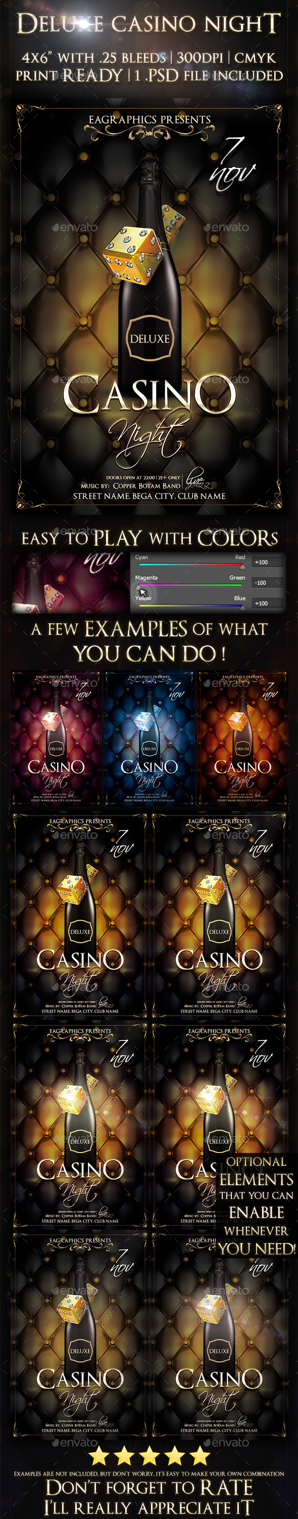 Deluxe Casino Night - Clubs & Parties Events