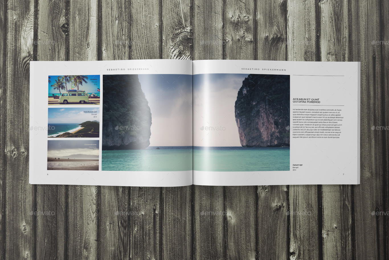 Indesign landscape photo book template by SacVanD | GraphicRiver