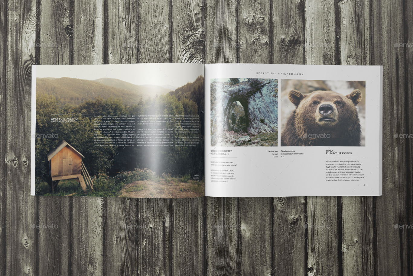 indesign landscape photo book template by sacvand