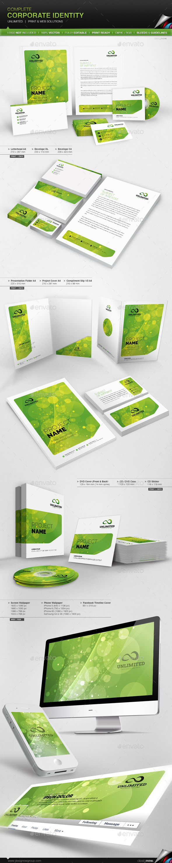 Corporate Identity - Unlimited - Stationery Print Templates