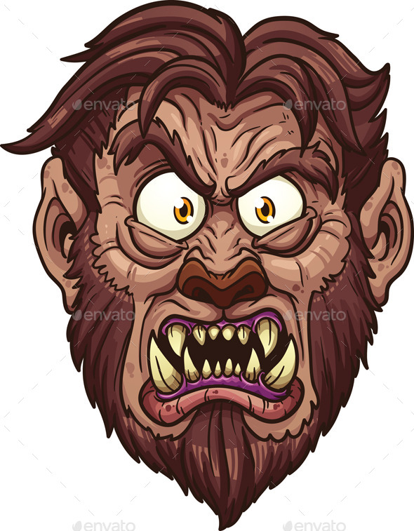 Werewolf Face - Monsters Characters