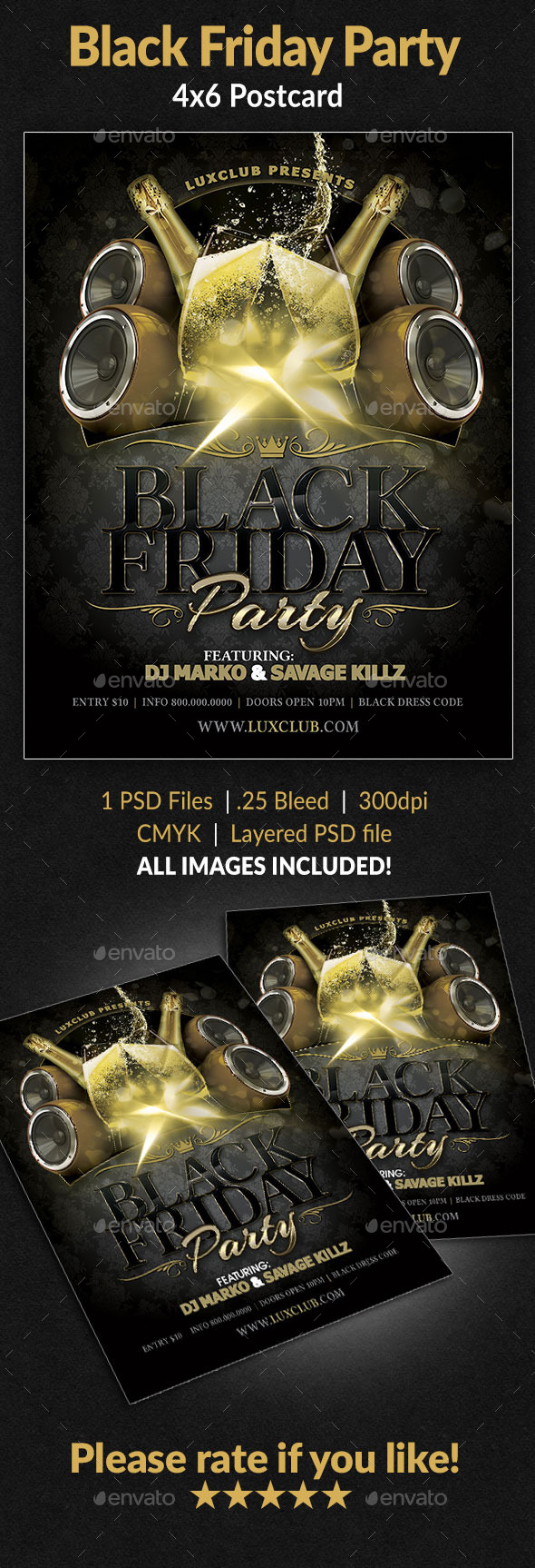 Black Friday Party Flyer - Clubs & Parties Events