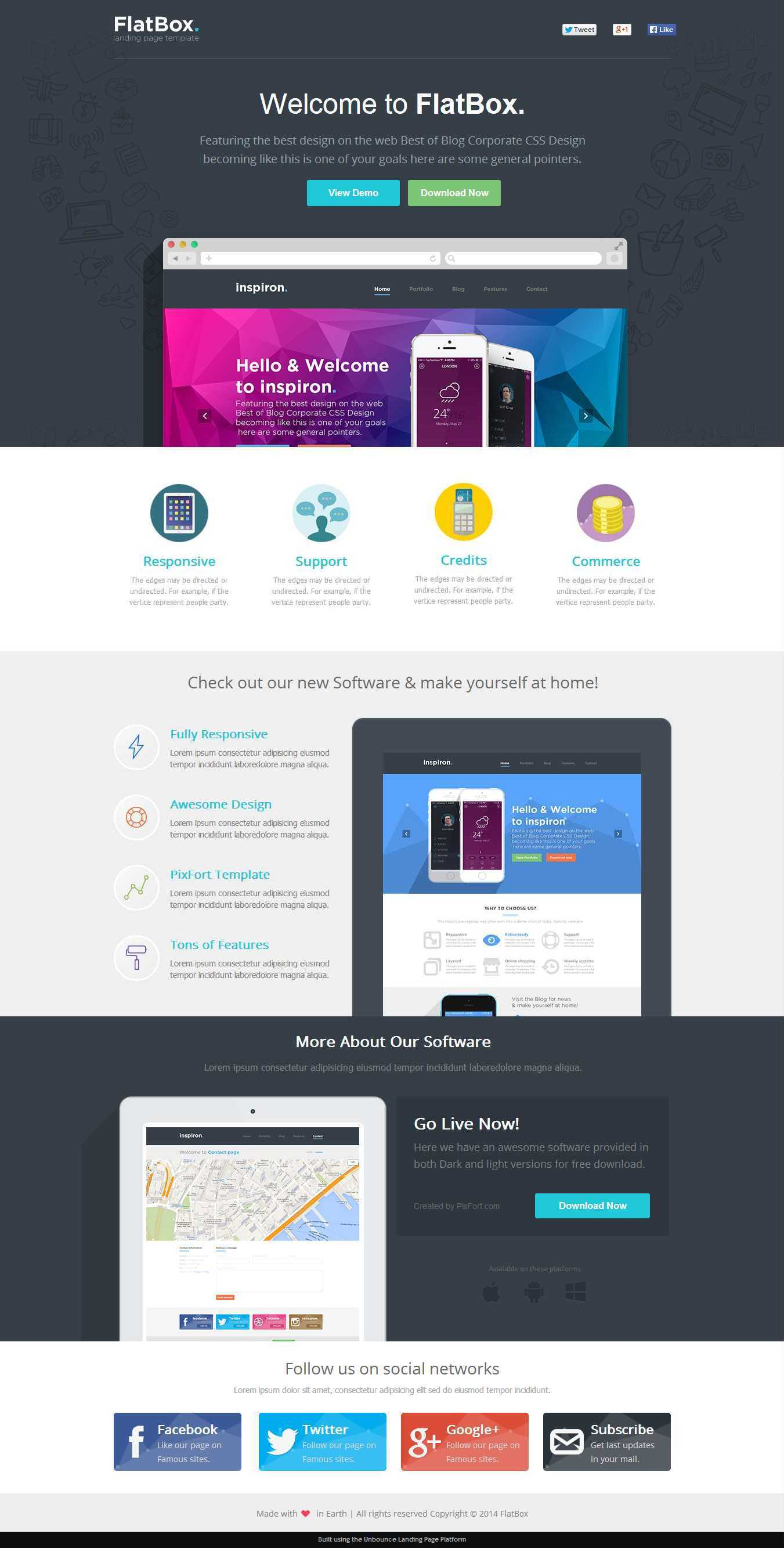 FlatBox - Software Landing Page Template by PixFort | ThemeForest