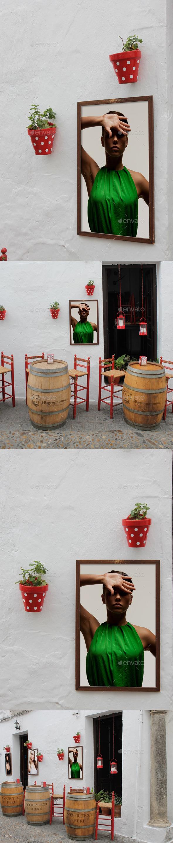 Spanish Tabern Mock-Up - Product Mock-Ups Graphics