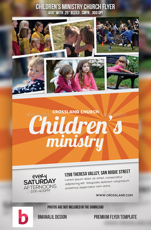 Children's Ministry Church Flyer - Church Flyers