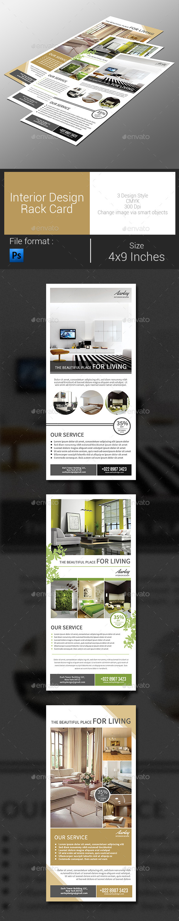 Interior Design Rack Card - Corporate Flyers
