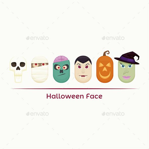 Halloween Face - Characters Vectors