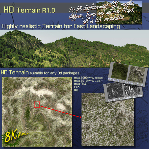 HD TERRAIN R1.0 - 3DOcean Item for Sale