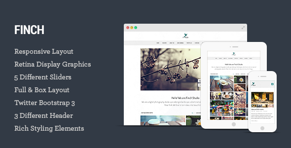Finch – Photography & Magazine HTML5 Template - Photography Creative