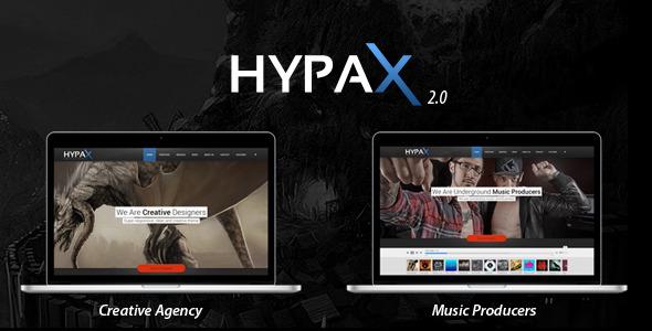Hypax – One Page Portfolio