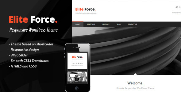 Elite Force - WordPress Corporate Theme - Corporate WordPress