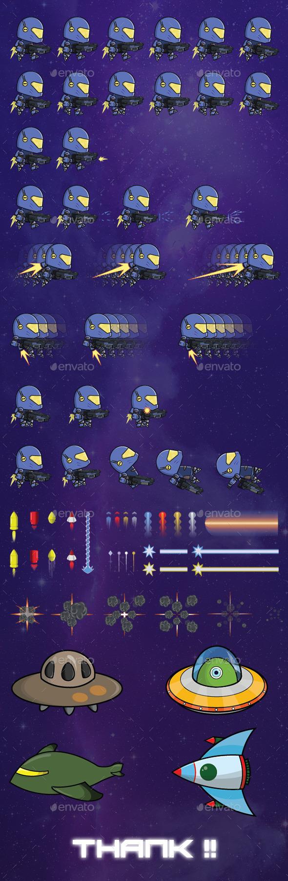 Game Galaxy Sprite - Mana - Sprites Game Assets