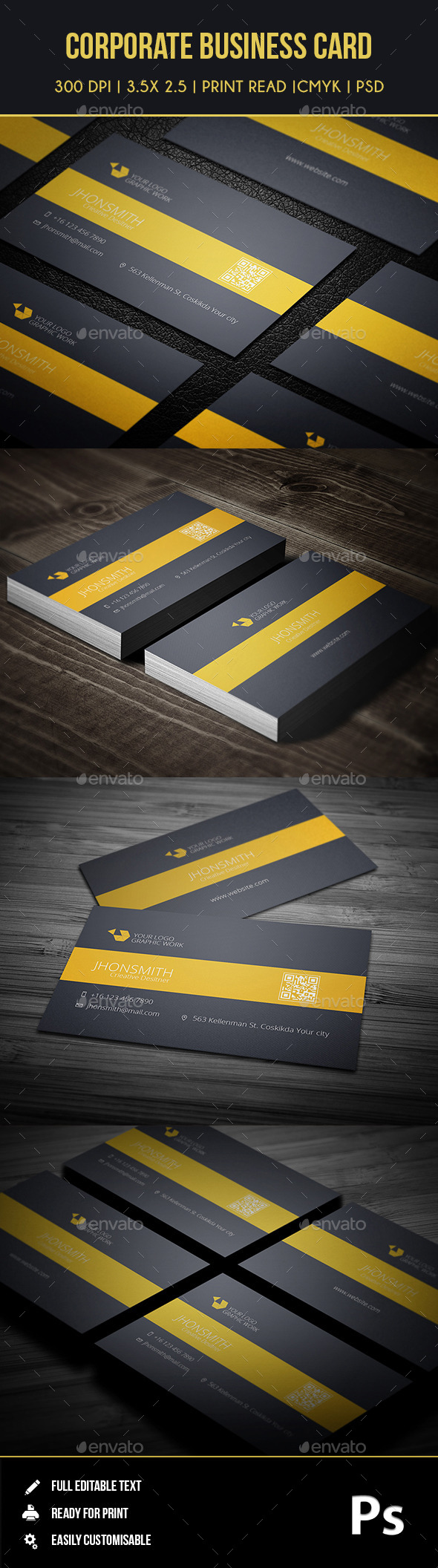Corporate Business Card 01 - Business Cards Print Templates