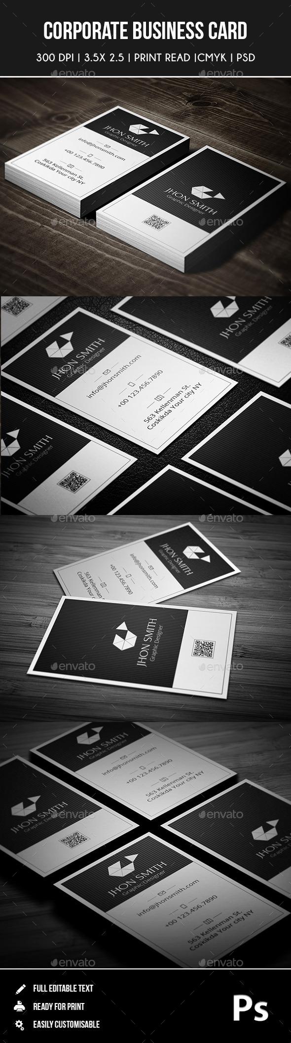 Corporate Business Card 02 - Corporate Business Cards